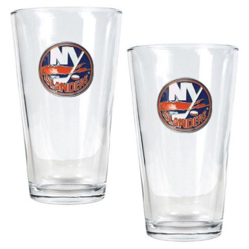 New York Islanders NHL Pint Glass - Set of 2
