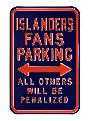 New York Islanders Penalized Parking Sign