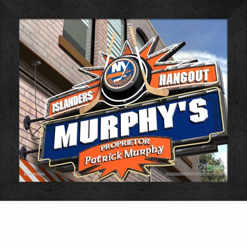 New York Islanders 11 x 14 Personalized Framed Sports Pub Print