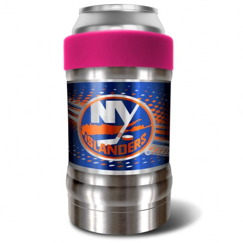 New York Islanders Pink 12 oz. Locker Vacuum Insulated Can Holder