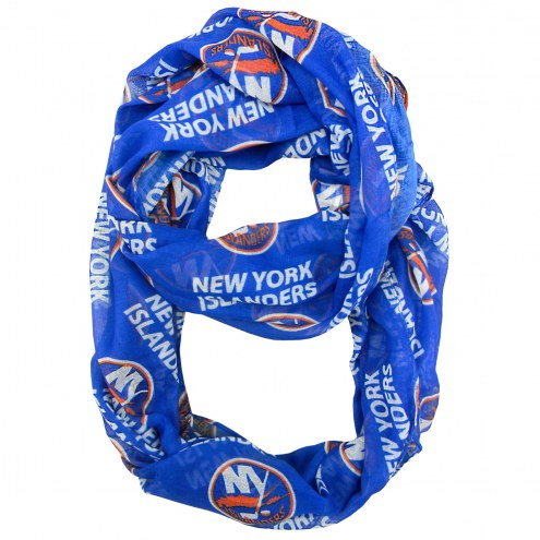 New York Islanders Sheer Infinity Scarf
