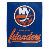 New York Islanders Signature Raschel Throw Blanket
