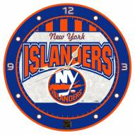 New York Islanders Stained Glass Wall Clock