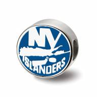 New York Islanders Sterling Silver Enameled Bead