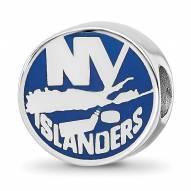 New York Islanders Sterling Silver Enameled Bead