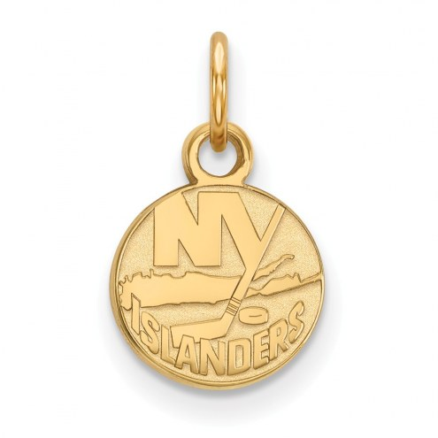 New York Islanders Sterling Silver Gold Plated Extra Small Pendant
