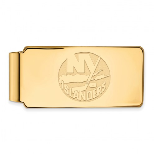 New York Islanders Sterling Silver Gold Plated Money Clip