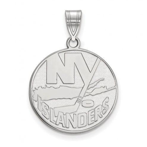 New York Islanders Sterling Silver Large Pendant