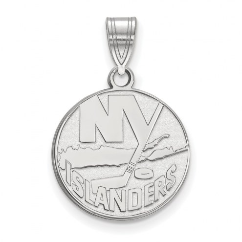 New York Islanders Sterling Silver Medium Pendant