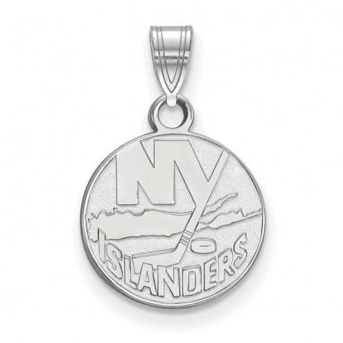 New York Islanders Sterling Silver Small Pendant