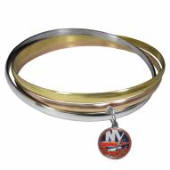 New York Islanders Tri-color Bangle Bracelet