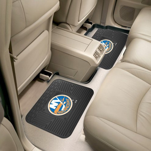 New York Islanders Vinyl 2-Piece Rear Floor Mats