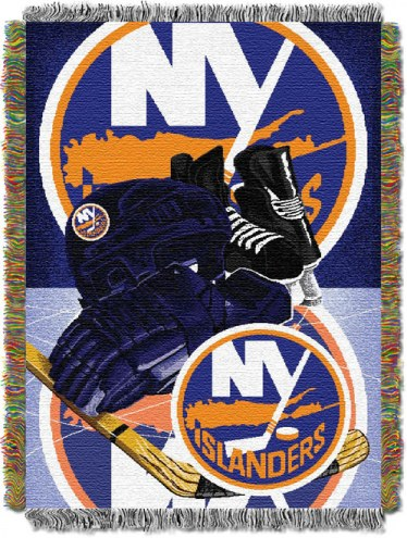 New York Islanders Woven Tapestry Throw Blanket