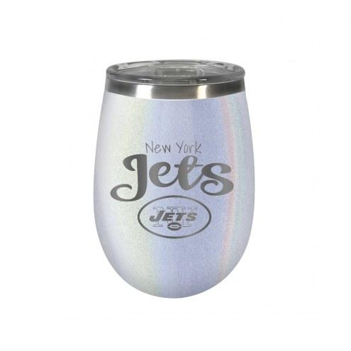 New York Jets 10 oz. Opal Blush Wine Tumbler
