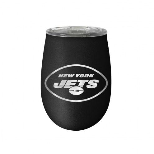 New York Jets 10 oz. Stealth Blush Wine Tumbler