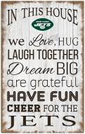 """New York Jets 11"""" x 19"""" In This House Sign"""