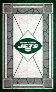 """New York Jets 11"""" x 19"""" Stained Glass Sign"""