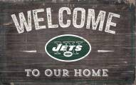 """New York Jets 11"""" x 19"""" Welcome to Our Home Sign"""