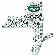 """New York Jets 12"""" Floral State Sign"""