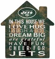"""New York Jets 12"""" House Sign"""