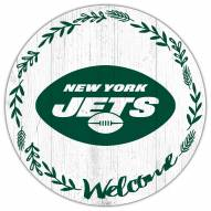 """New York Jets 12"""" Welcome Circle Sign"""