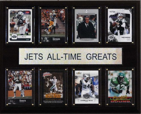 """New York Jets 12"""" x 15"""" All-Time Greats Plaque"""