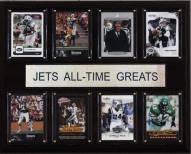 "New York Jets 12"" x 15"" All-Time Greats Plaque"