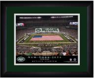 New York Jets 13 x 16 Personalized Framed Stadium Print