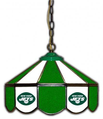 "New York Jets 14"" Glass Pub Lamp"