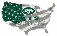 "New York Jets 15"" USA Flag Cutout Sign"