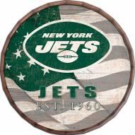 "New York Jets 16"" Flag Barrel Top"