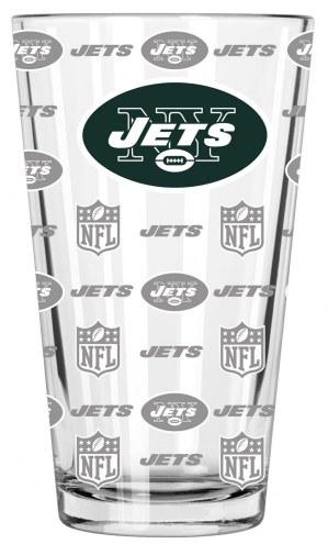 New York Jets 16 oz. Sandblasted Pint Glass