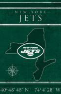 "New York Jets 17"" x 26"" Coordinates Sign"