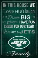 """New York Jets 17"""" x 26"""" In This House Sign"""