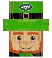 "New York Jets 19"" x 16"" Leprechaun Head"