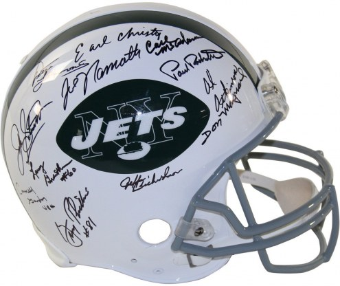 New York Jets 1969 Team Signed Authentic 65-77 Throwback Helmet