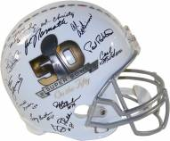 New York Jets 1969 Team Signed Super Bowl 50 On The Fifty Commemorative Replica Helmet