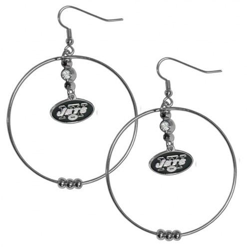 """New York Jets 2"""" Hoop Earrings"""