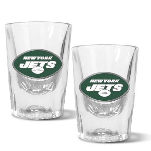 New York Jets 2 oz. Prism Shot Glass Set