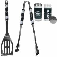 New York Jets 2 Piece BBQ Set with Tailgate Salt & Pepper Shakers