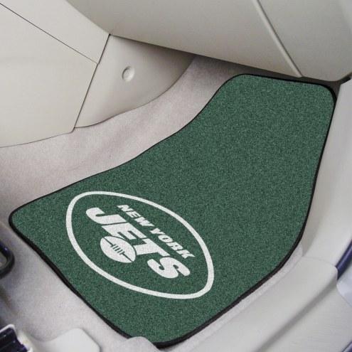 New York Jets 2-Piece Carpet Car Mats