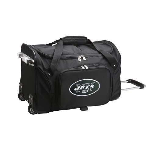 """New York Jets 22"""" Rolling Duffle Bag"""