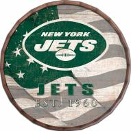 "New York Jets 24"" Flag Barrel Top"