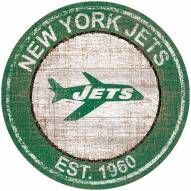 "New York Jets 24"" Heritage Logo Round Sign"