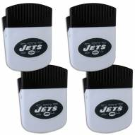 New York Jets 4 Pack Chip Clip Magnet with Bottle Opener