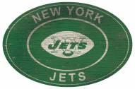 "New York Jets 46"" Heritage Logo Oval Sign"