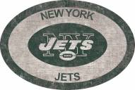 """New York Jets 46"""" Team Color Oval Sign"""