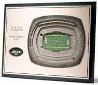 New York Jets 5-Layer StadiumViews 3D Wall Art