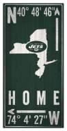 "New York Jets 6"" x 12"" Coordinates Sign"