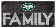 """New York Jets 6"""" x 12"""" Family Sign"""